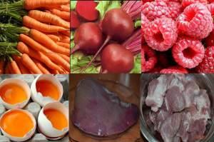Продукты для нормального гемоглобина